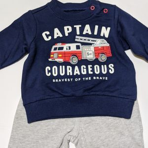 Carters boys fire truck engine fireman outfit pant